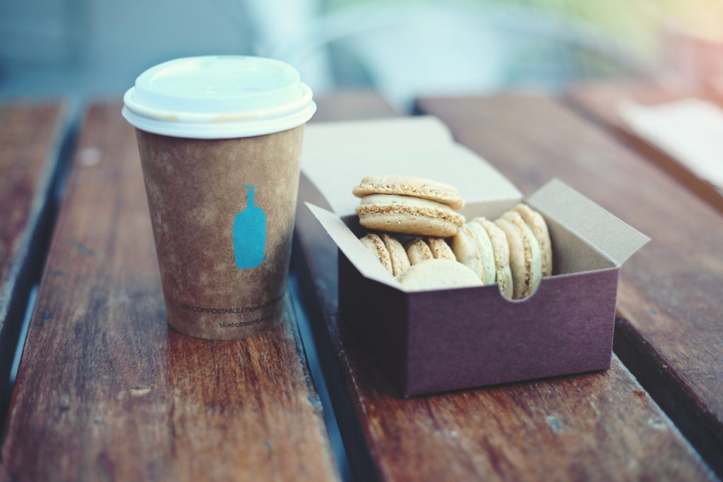 Blue Bottle Coffee and Macarons