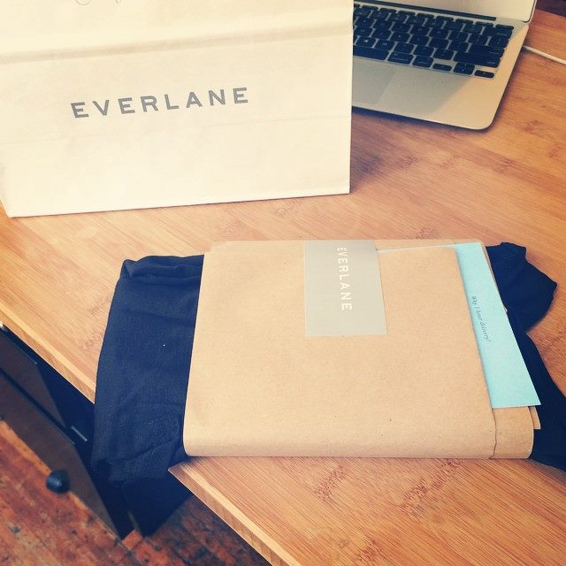 Everlane products wrapped for shipping