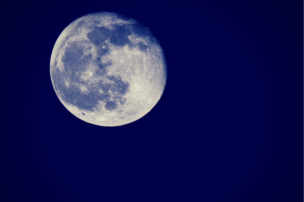 A picture of the moon