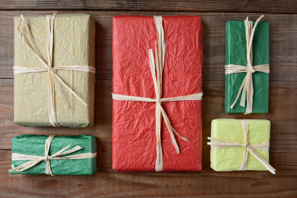 Boxes of gifts, to represent subscription boxes