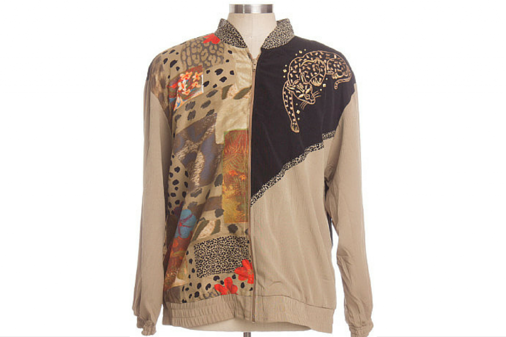 90s Jacket with Cheetah on Shoulder