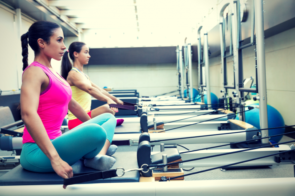 Women Doing Reformer Pilates