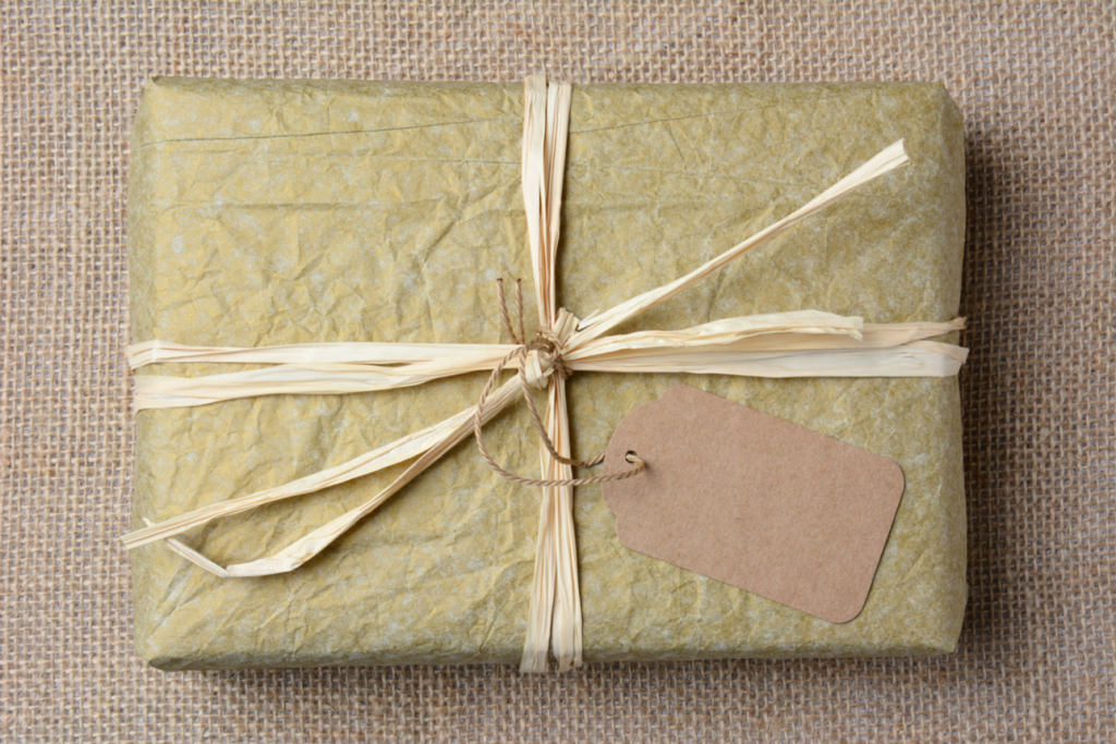 Subscription box nicely wrapped