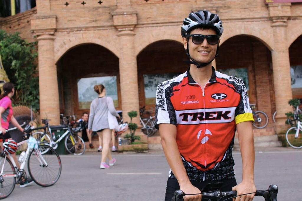 Sean Lee riding bike