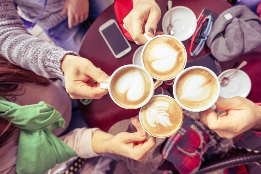 group of coffees in a summer internship