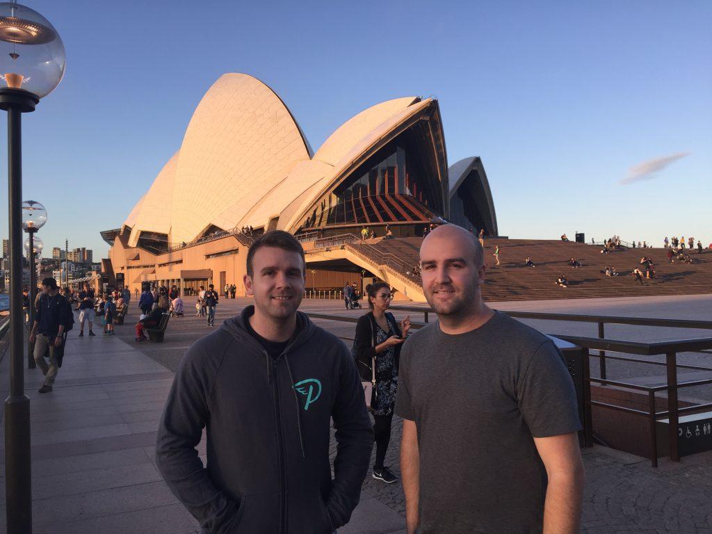Matt and James at the Sydney Opera House