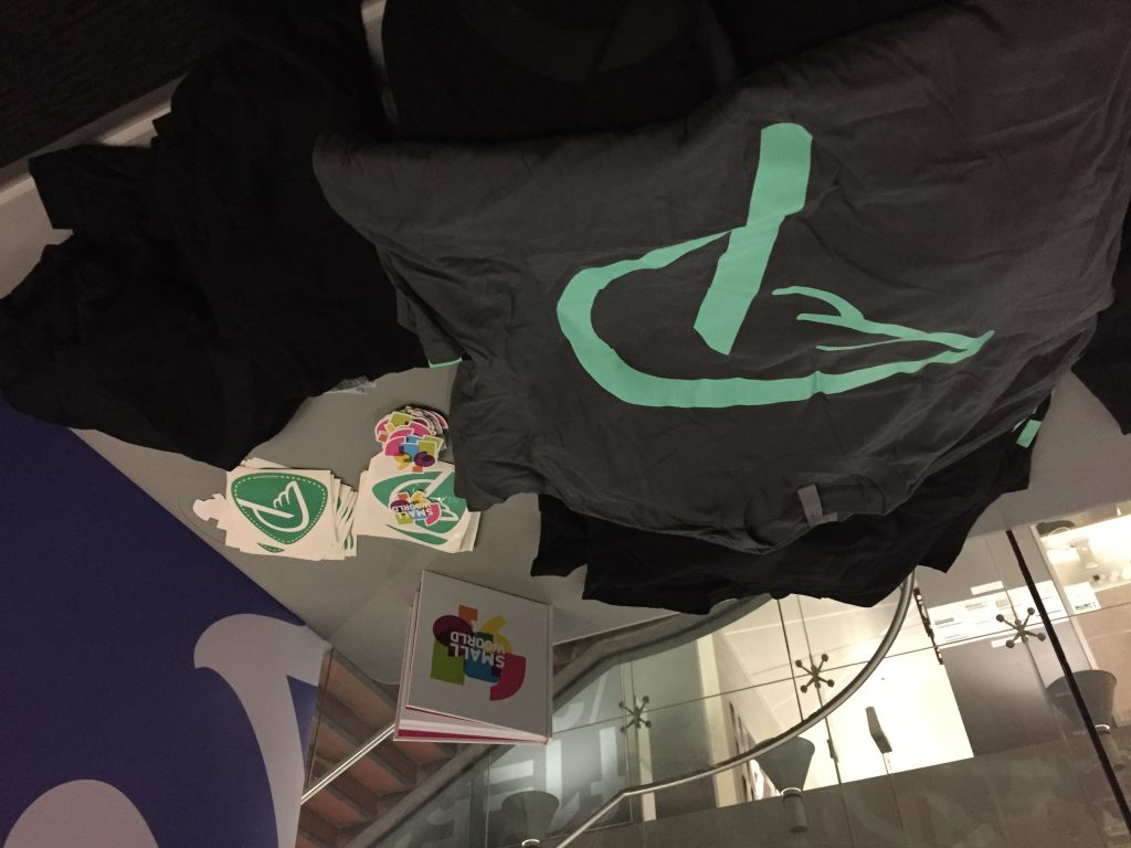 Prospress swag on the table at WordCamp Sydney