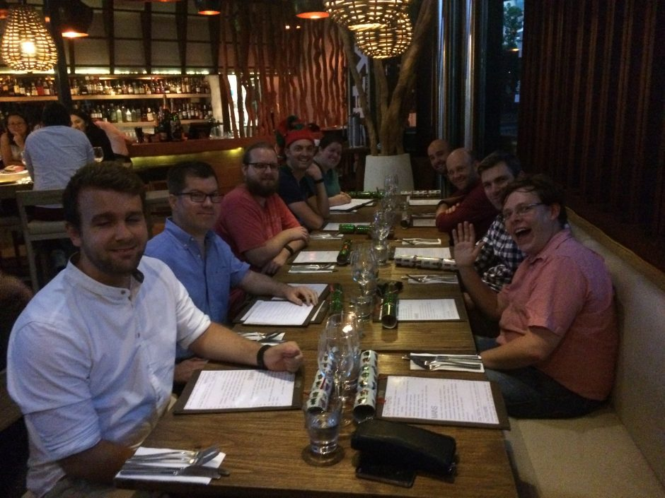 Dinner with the Human Made guys at Prospress meetup