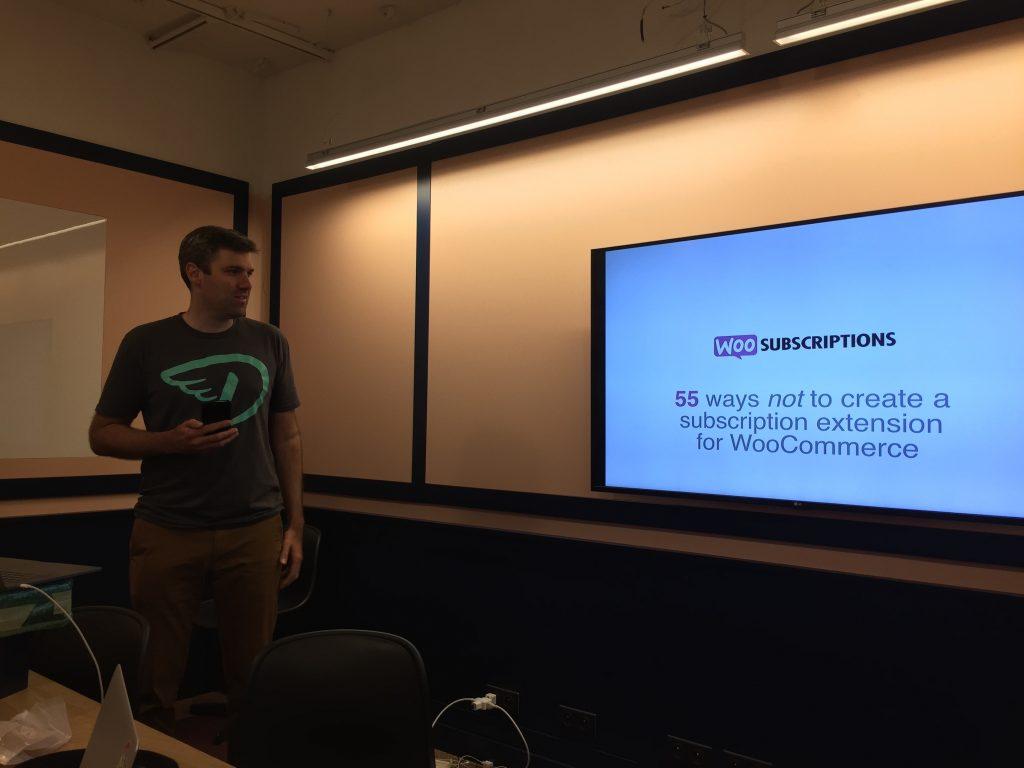 Brent giving his presentation at Prosparis