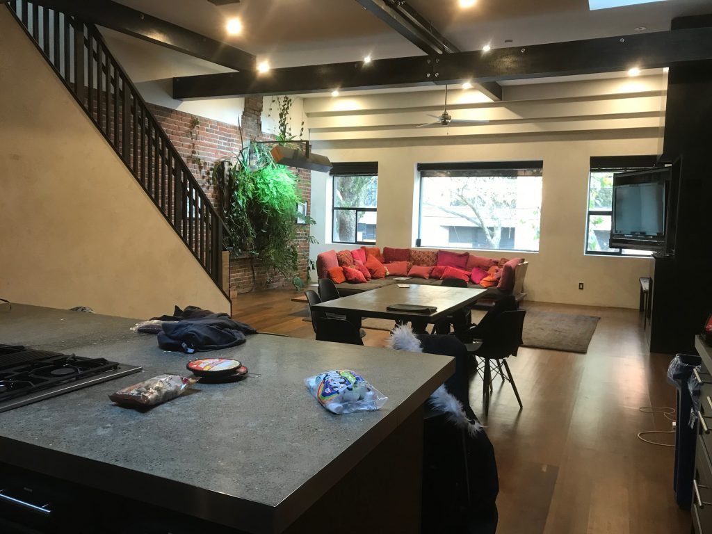 Inside of Vancouver downtown apartment