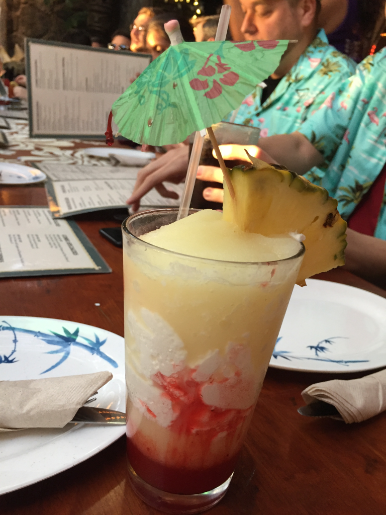 Tropical drink with umbrella at Prosparadise