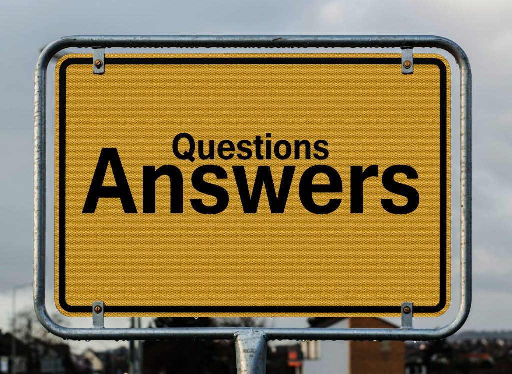 questions/ answers sign
